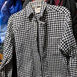 Frank & Oak Grey Checkered Shirt
